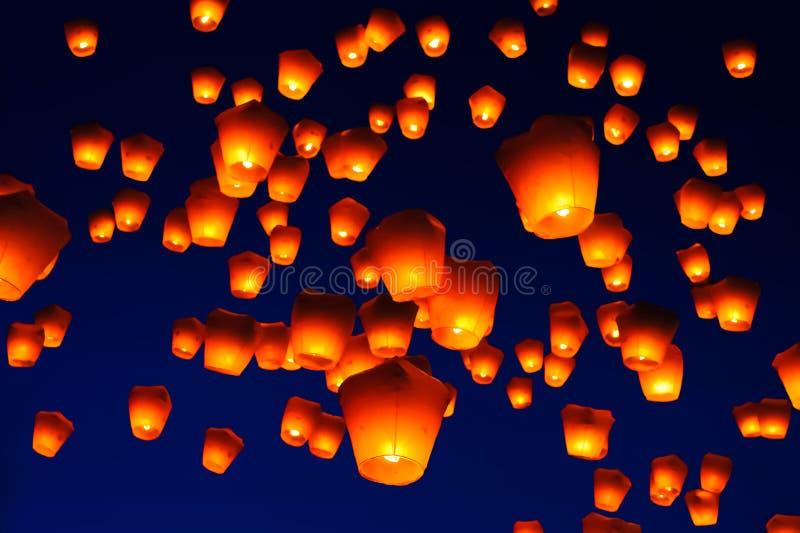 Festival de linterna del cielo en Taiwán fotografía de archivo libre de regalías