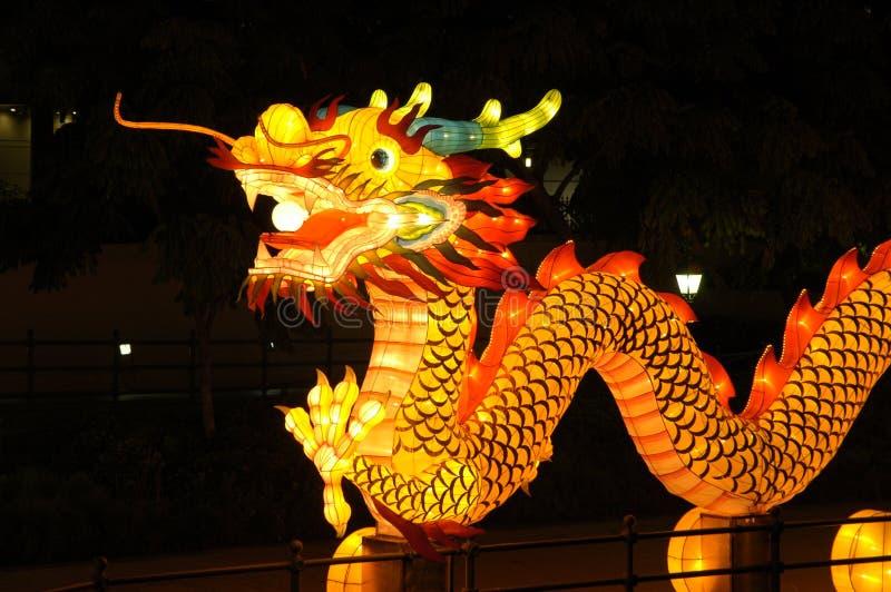 Festival de linterna en Singapur, dragón imágenes de archivo libres de regalías