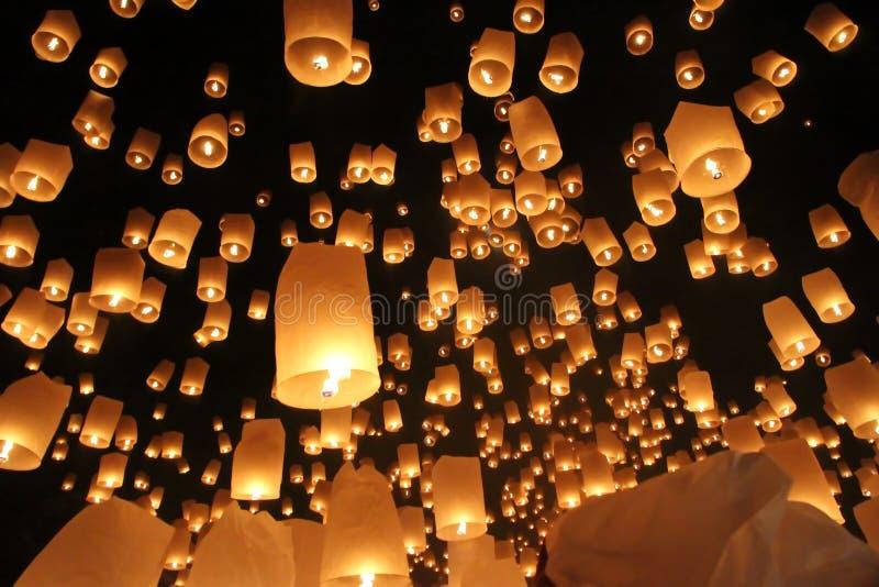 Festival de linterna, Loi Krathong, Chiang Mai, Tailandia fotos de archivo