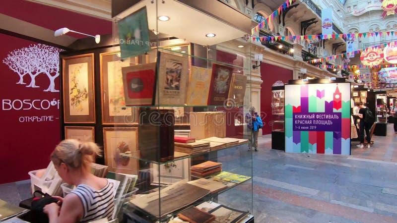Festival de livre sur la place rouge photographie stock libre de droits