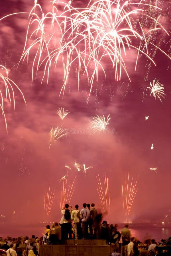 Festival de los fuegos artificiales fotos de archivo