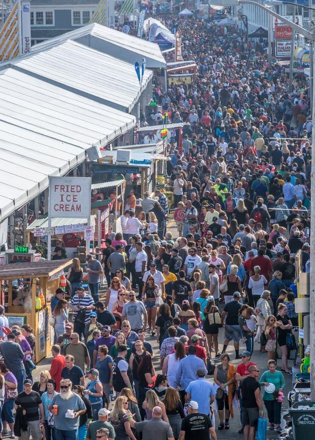 Festival de los mariscos Hampton Beach 2017 imagen de archivo libre de regalías