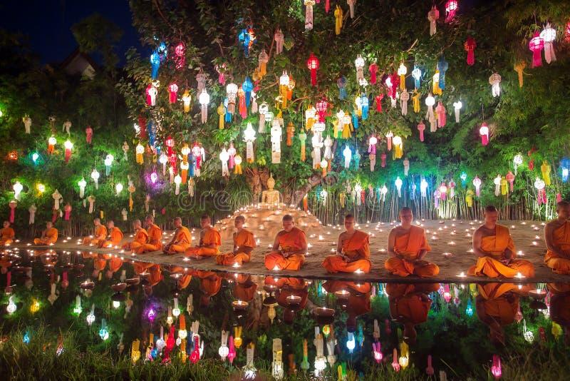 Festival de Loy Kratong foto de stock royalty free