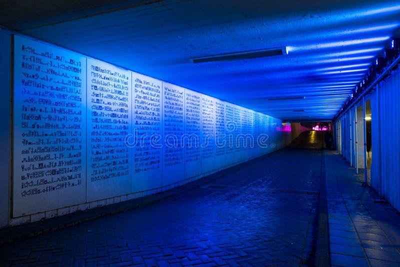 Festival 2016 de lumière d'Amsterdam - pulsation lumineuse de sonar images libres de droits