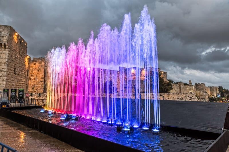 Festival de lumière de Jérusalem image libre de droits
