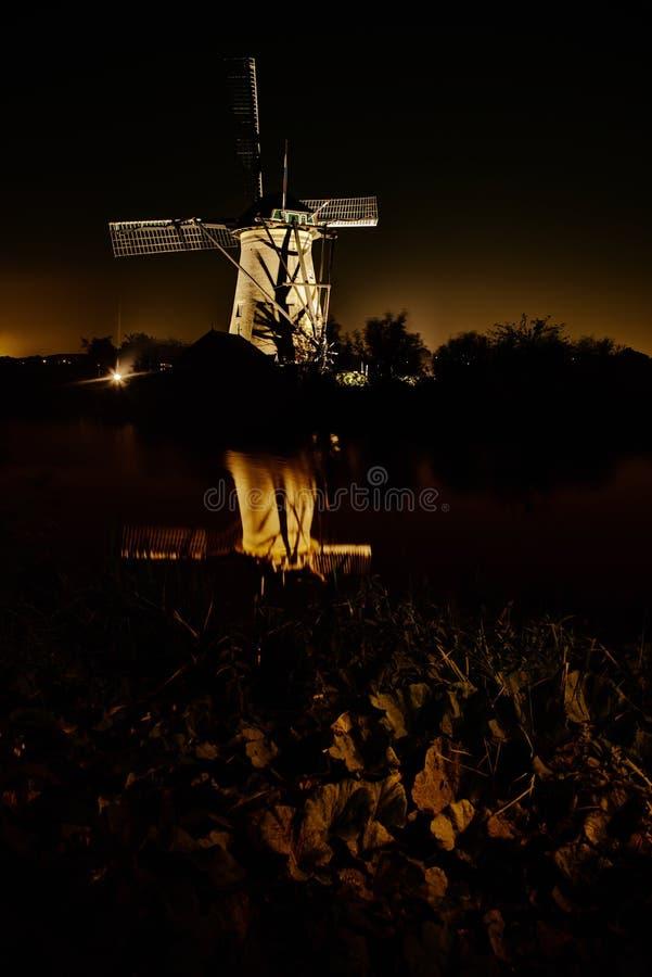 Festival de lumière de Kinderdijk images stock
