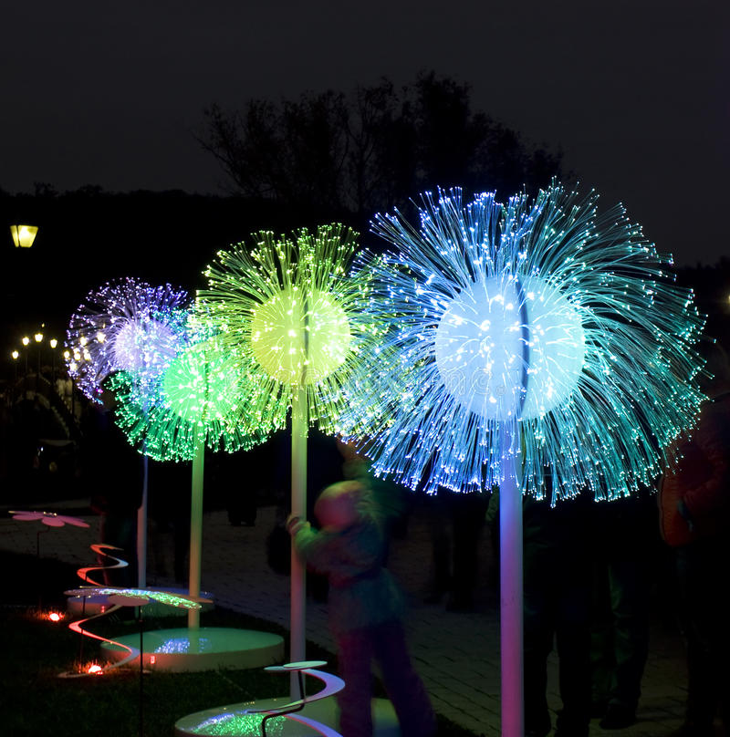 Festival de lumière, Moscou photos libres de droits