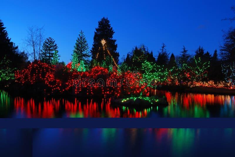 Festival de lumières de Noël image stock