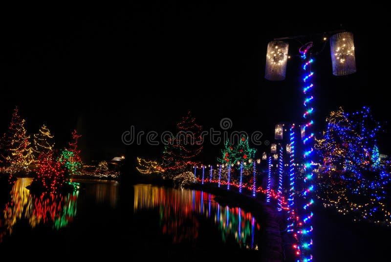 Festival de lumières de Noël image libre de droits