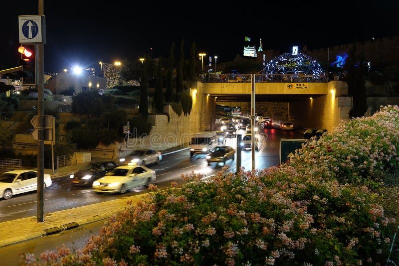 Festival de luz 2017 no Jerusalém imagem de stock