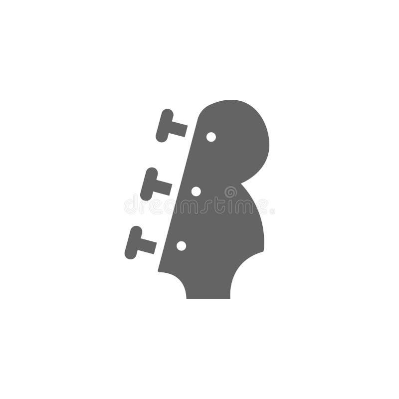 Festival de música, acústico, guitarra, ícono de instrumento musical Elemento del icono del festival de música Icono de diseño gr stock de ilustración