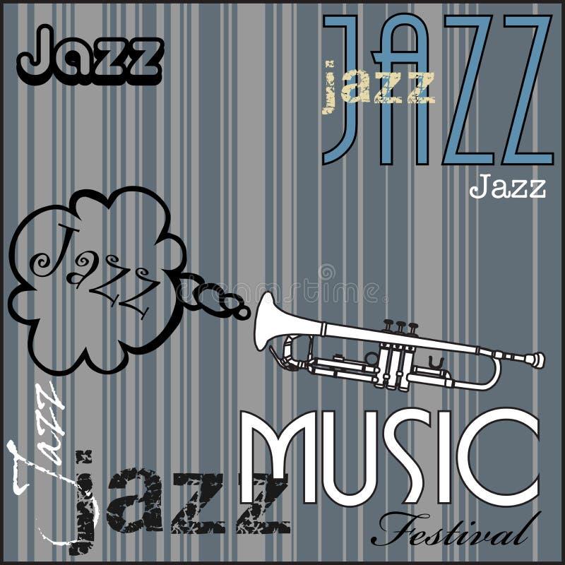 Festival de música de jazz ilustración del vector