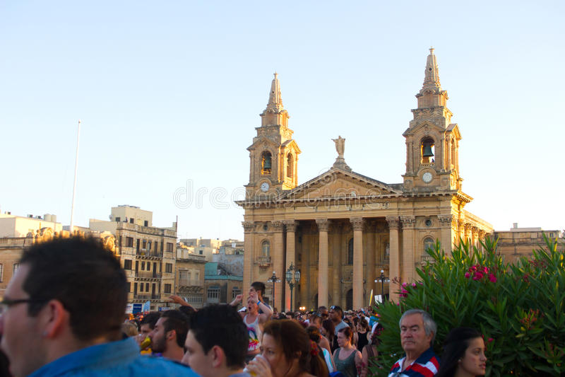 Festival de música de MTV em Malta fotos de stock