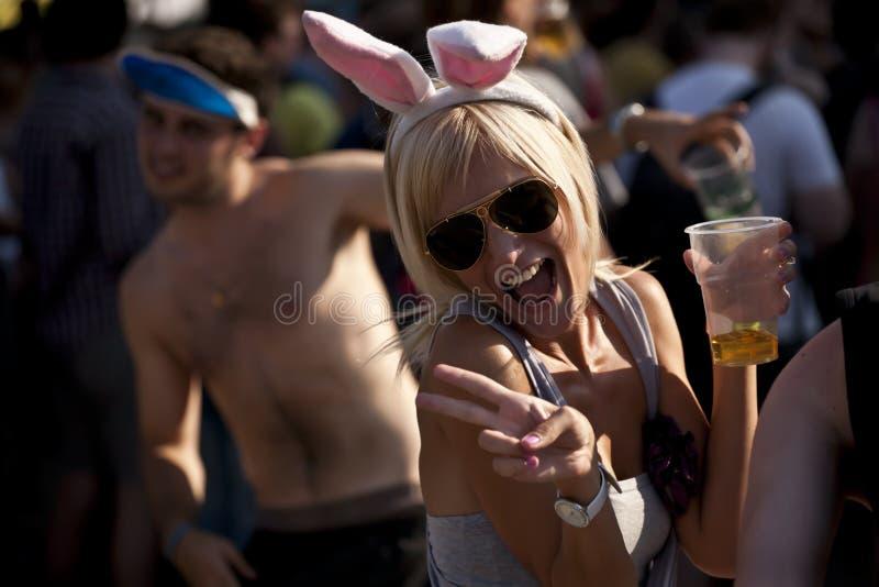 Festival de música del verano de Sziget Budapest Hungría fotografía de archivo