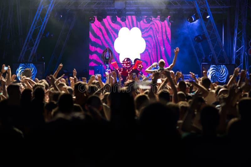 Festival de música eletrônico da dança imagens de stock