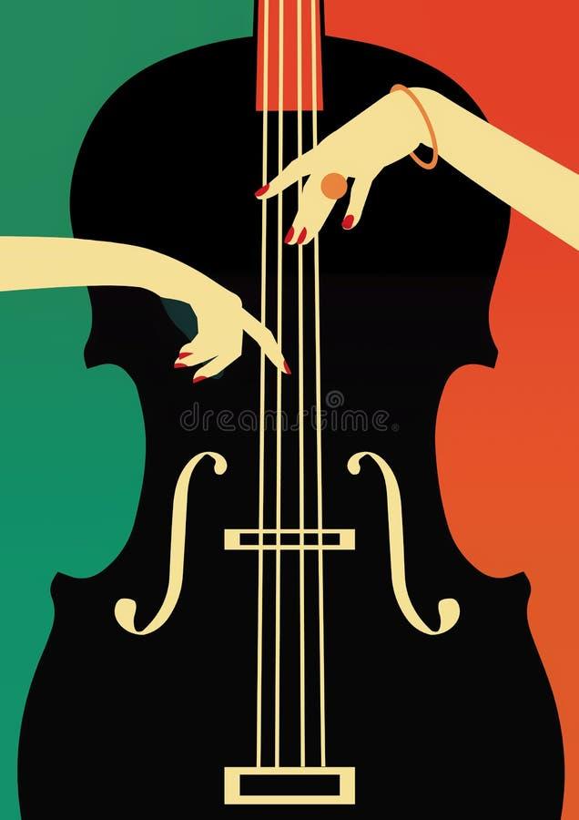 Festival de música de jazz, fondo del cartel ilustración del vector