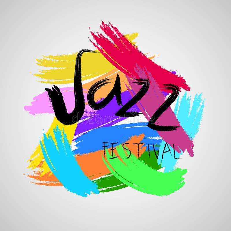 Festival de música jazz Molde do poster ilustração stock