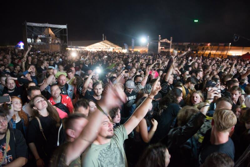 Festival de música Topfest 2015, Piestany, Eslovaquia imágenes de archivo libres de regalías