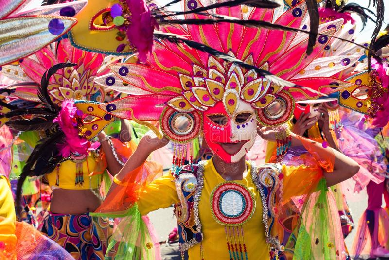 Festival de Masskara Ville de Bacolod, Philippines photo stock