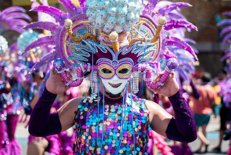 Festival de Masskara Ville de Bacolod, Philippines photo stock