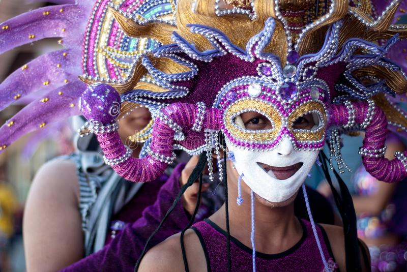 Festival de Masskara Ville de Bacolod, Philippines image stock