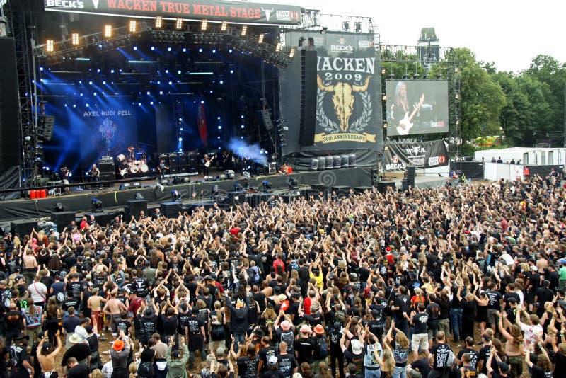Festival de metales pesados de Wacken Alemania 2009 imágenes de archivo libres de regalías
