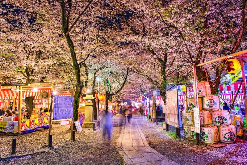 Festival de mola do santuário de Hirano fotografia de stock