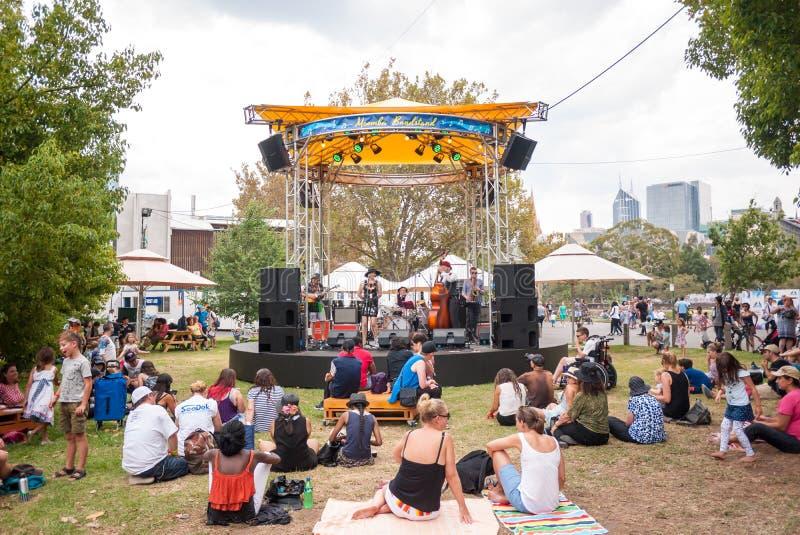 Festival de Moomba en Melbourne CBD, Victoria, Australia: 12 de marzo de 2017 foto de archivo libre de regalías