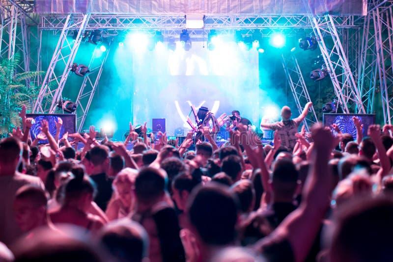 Festival de musique électronique de danse photographie stock