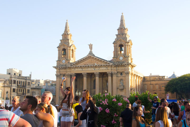 Festival de musique de MTV à Malte images libres de droits