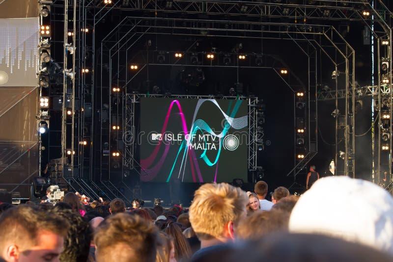 Festival de musique de MTV à Malte images stock