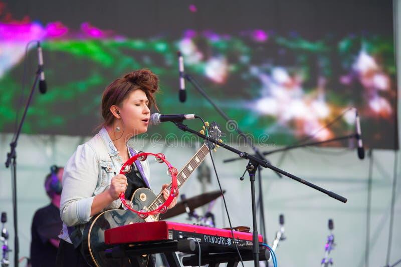 Festival de musique en direct en plein air de Bosco Fresh Fest image stock