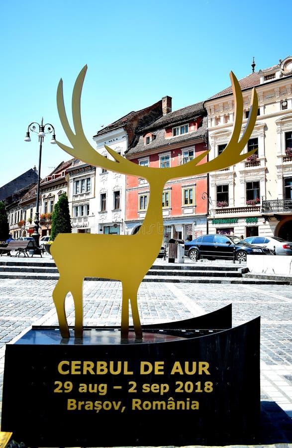 Festival de musique pop international de mâle d'or chez Brasov Roumanie Cerbul de Aur images libres de droits