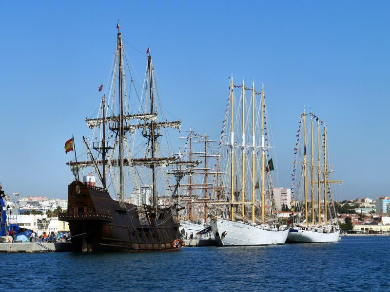 Festival de naves altas en Setúbal fotografía de archivo libre de regalías