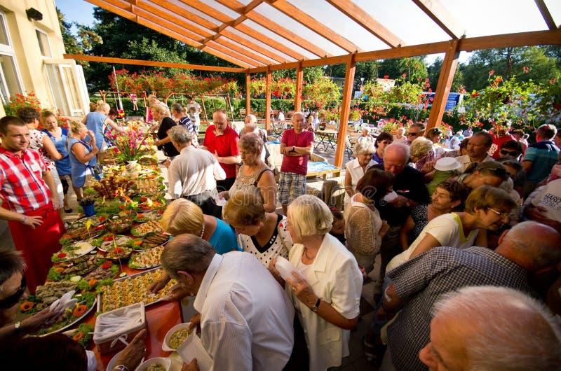 Festival de nourriture d'hôtel d'été image libre de droits