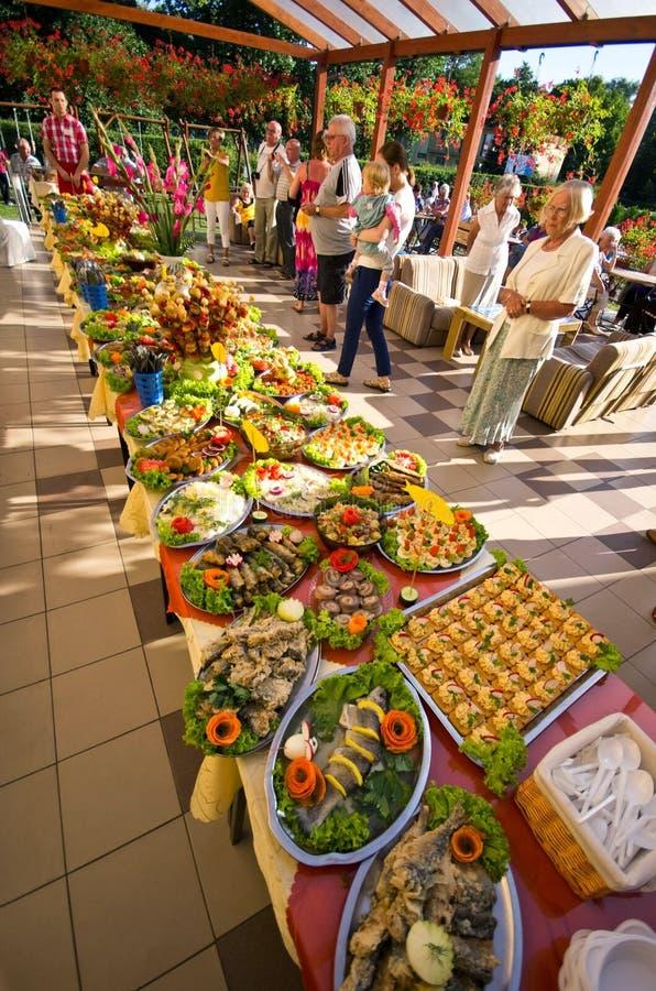 Festival de nourriture d'hôtel d'été photographie stock