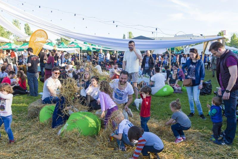 Festival de nourriture - terrain de jeu d'enfants images libres de droits