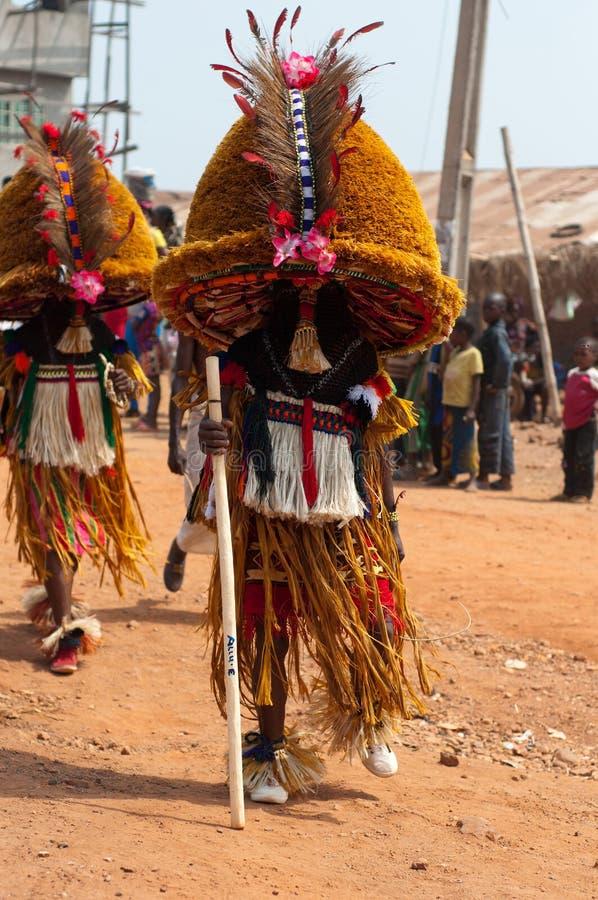 Festival de Otuo Ukpesose - el Itu se disfraza en Nigeria fotografía de archivo libre de regalías