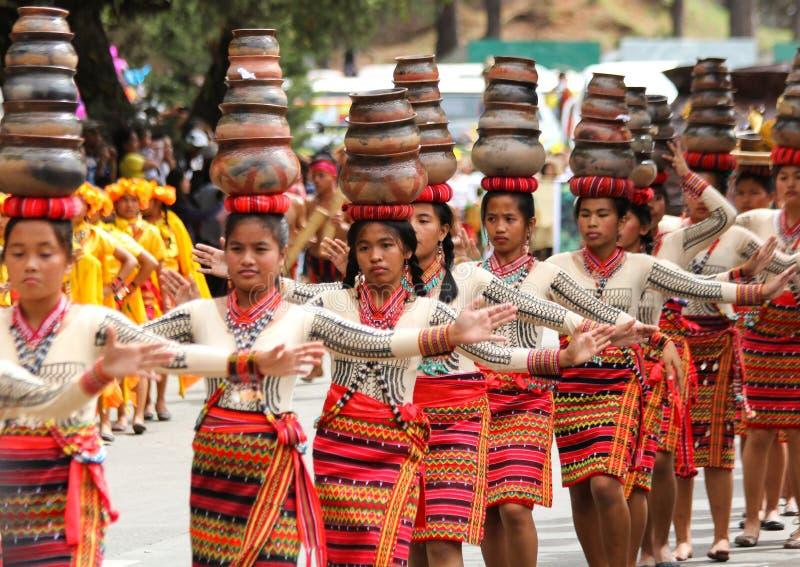 Festival de Panagbenga, ciudad de Baguio imagenes de archivo