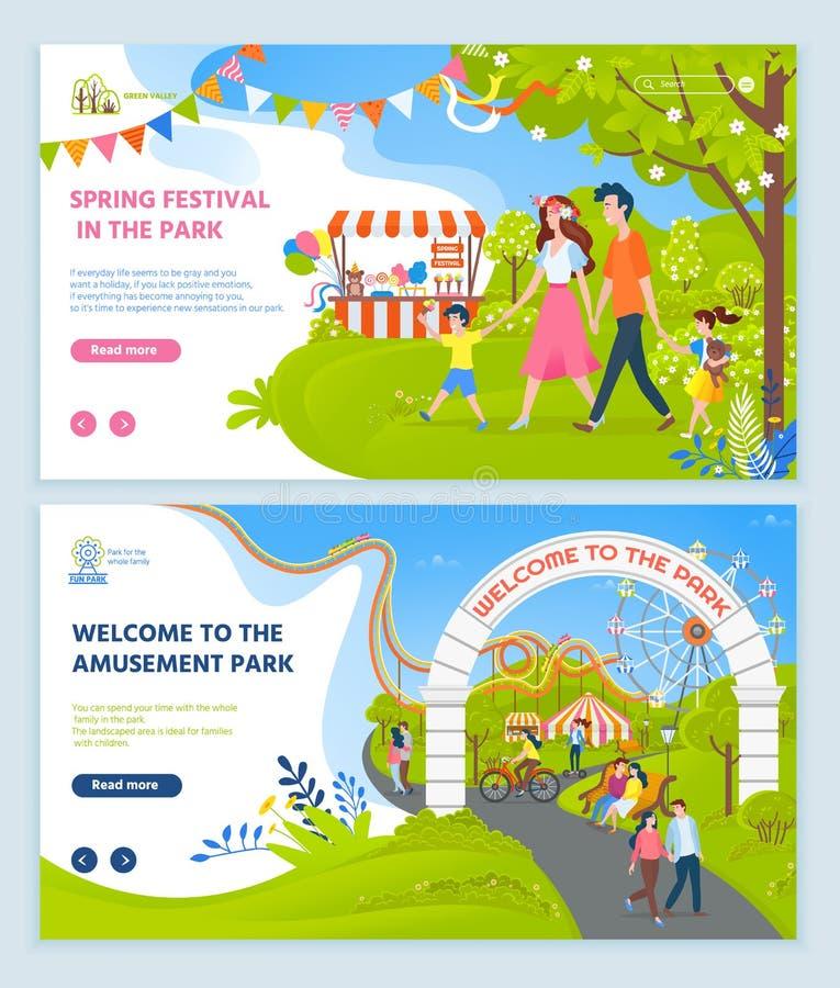 Festival de primavera en el parque, relajación de la diversión libre illustration