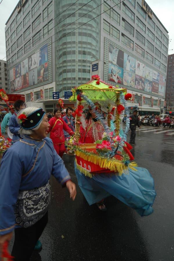 Festival de printemps de bateau-Le de terre de rangée à Nan-Tchang photographie stock libre de droits