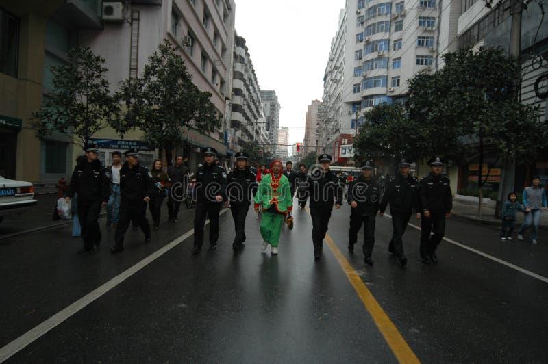Festival de printemps de batteur-Le à Nan-Tchang image libre de droits
