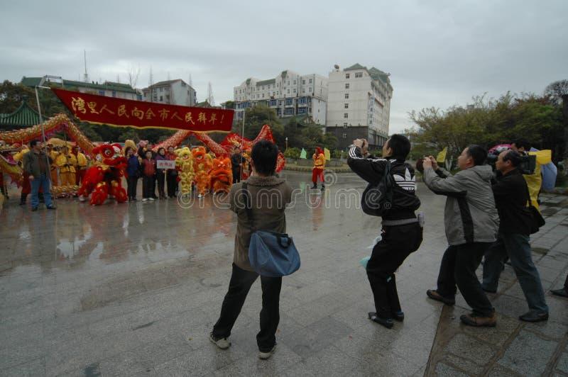 Festival de printemps de couverture-Le de media à Nan-Tchang images libres de droits