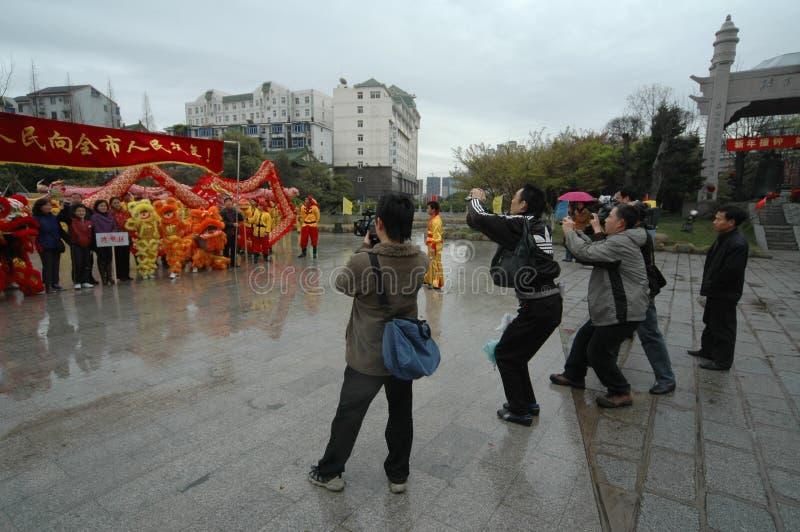Festival de printemps de couverture-Le de media à Nan-Tchang photographie stock libre de droits