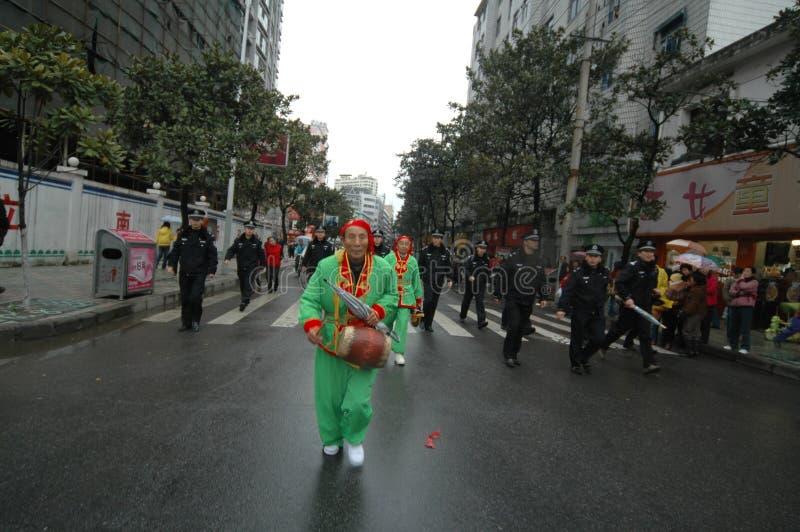Festival de printemps de percussion-Le de main à Nan-Tchang photos libres de droits