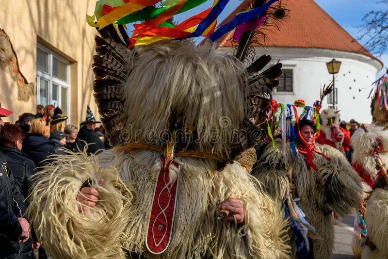 Festival de Ptuj do carnaval de Kurents fotografia de stock