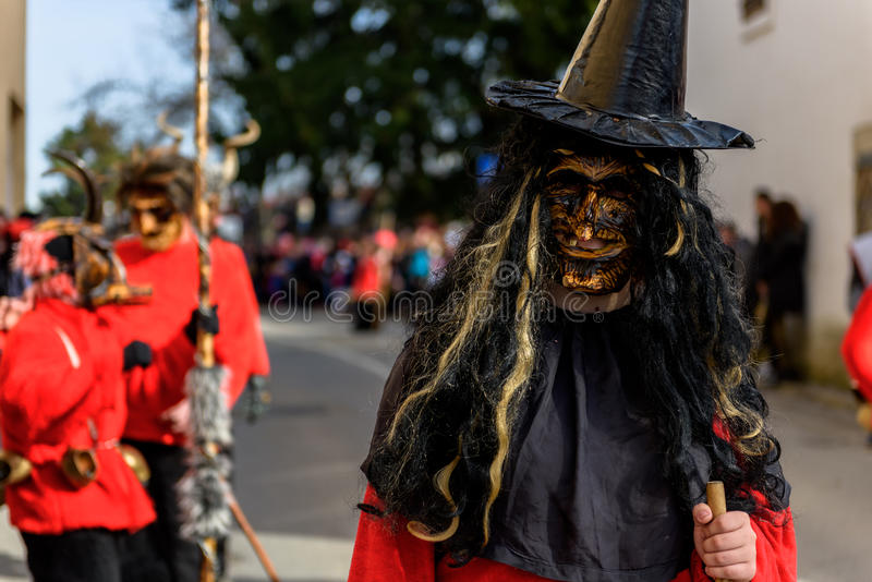 Festival de Ptuj do carnaval de Kurents foto de stock royalty free