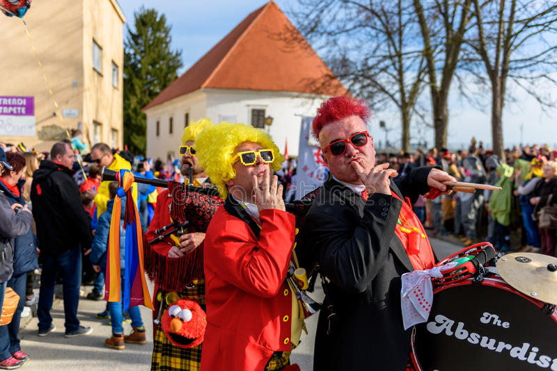 Festival de Ptuj do carnaval de Kurents foto de stock