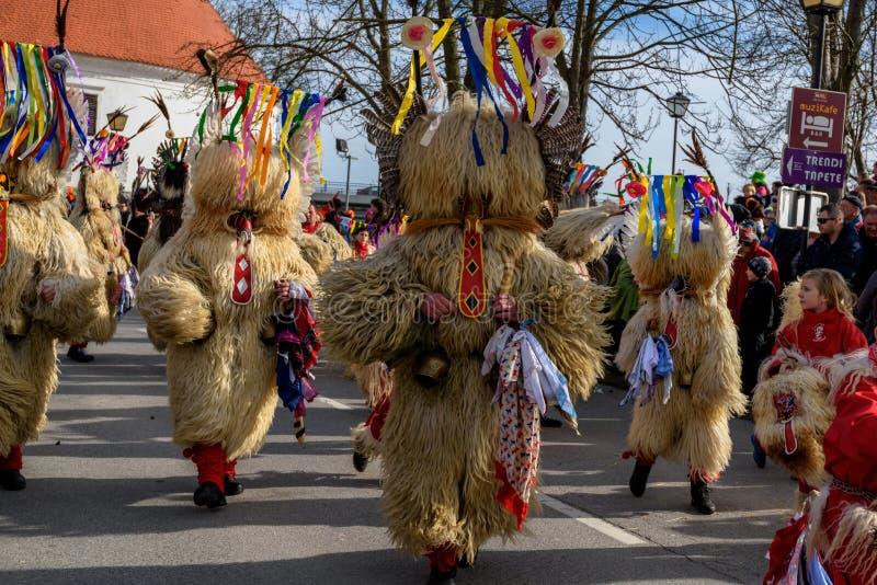 Festival de Ptuj do carnaval de Kurents imagens de stock