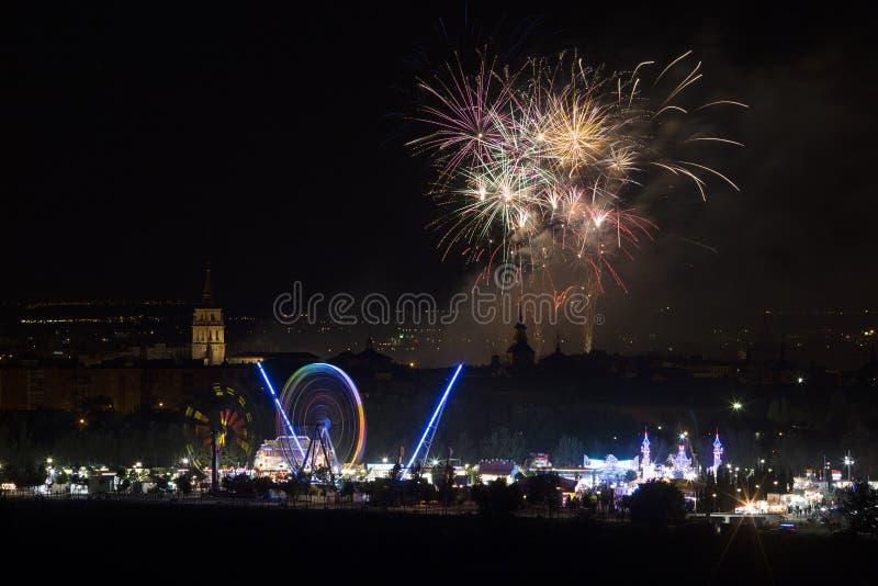 Festival de pyrotechnie photo libre de droits